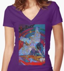 Nine Stars of a Swan Song Women's Fitted V-Neck T-Shirt