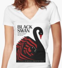 Black Swan Women's Fitted V-Neck T-Shirt