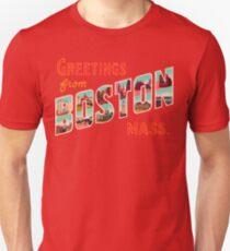 Greetings From Boston Mass Unisex T-Shirt