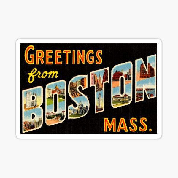 Greetings From Boston Mass Sticker