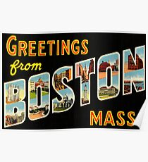 Greetings From Boston Mass Poster