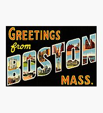 Greetings From Boston Mass Photographic Print