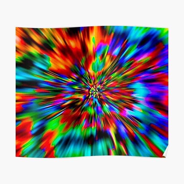 Rainbow Wormhole Tie-Dye Pattern Poster