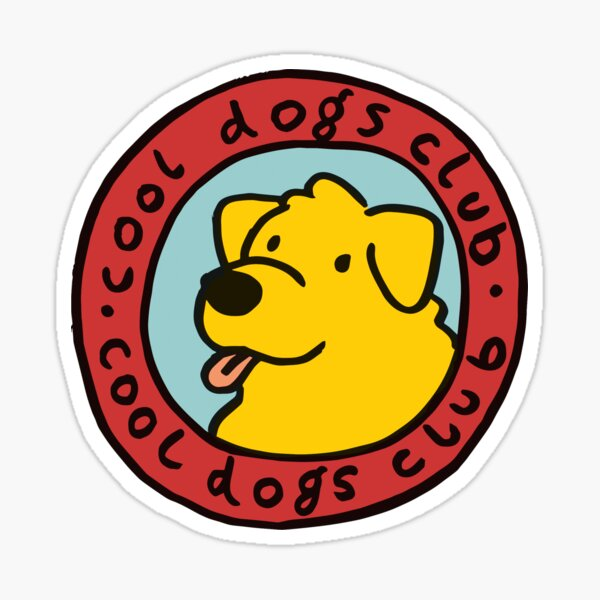 club de perros cool Pegatina