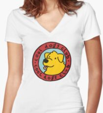 cool dogs club Women's Fitted V-Neck T-Shirt