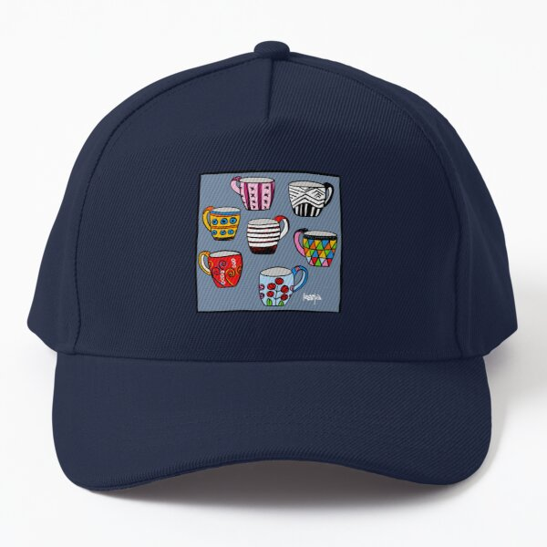 Colorful cups - have a coffee break! Baseball Cap