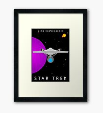 Star Trek - Minimalist Enterprise Framed Print