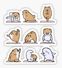 Pomeranian Yoga Sticker