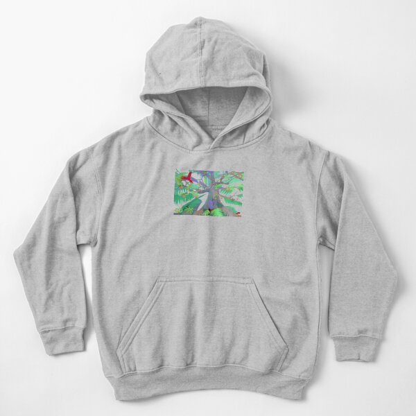 Eight Branches Over Ocho Rios Kids Pullover Hoodie