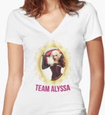 Rupaul's Drag Race All Stars 2 Team Alyssa Edwards Women's Fitted V-Neck T-Shirt