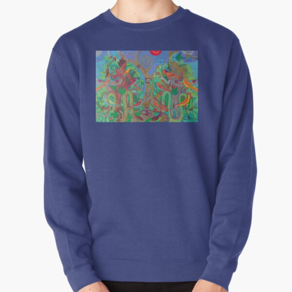 Two Trees and Fig Leaves in the Garden of Desire Pullover Sweatshirt