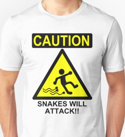 Caution: Snakes will Attack!! T-Shirt