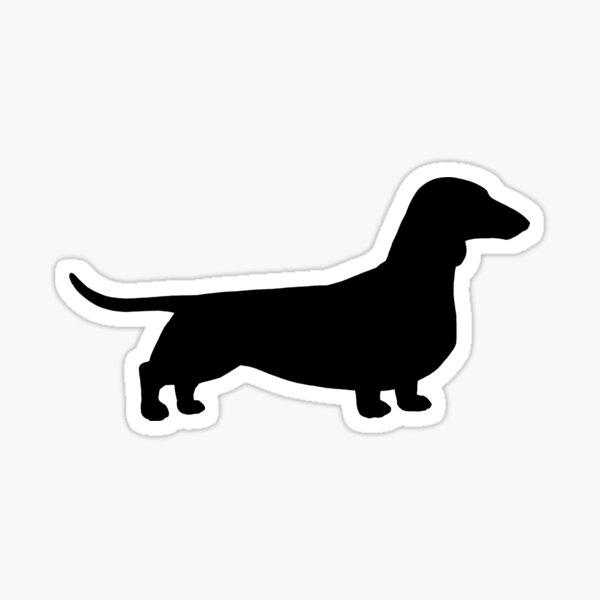 Dachshund Dog Silhouette(s) | Smooth Coated Wiener Dog Sticker