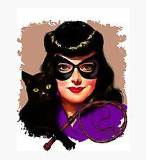 Vintage Catwoman Photographic Print