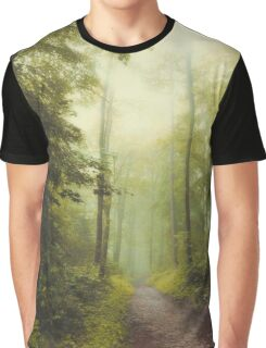 Long Forest Walk Graphic T-Shirt