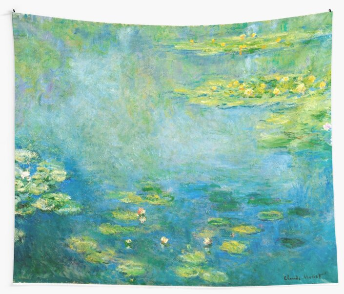 1906-Claude Monet-Waterlilien-73 x 92 von paulrommer