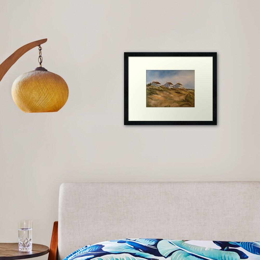 Captain Charlie's I, II, and III, Bald Head Island Framed Art Print