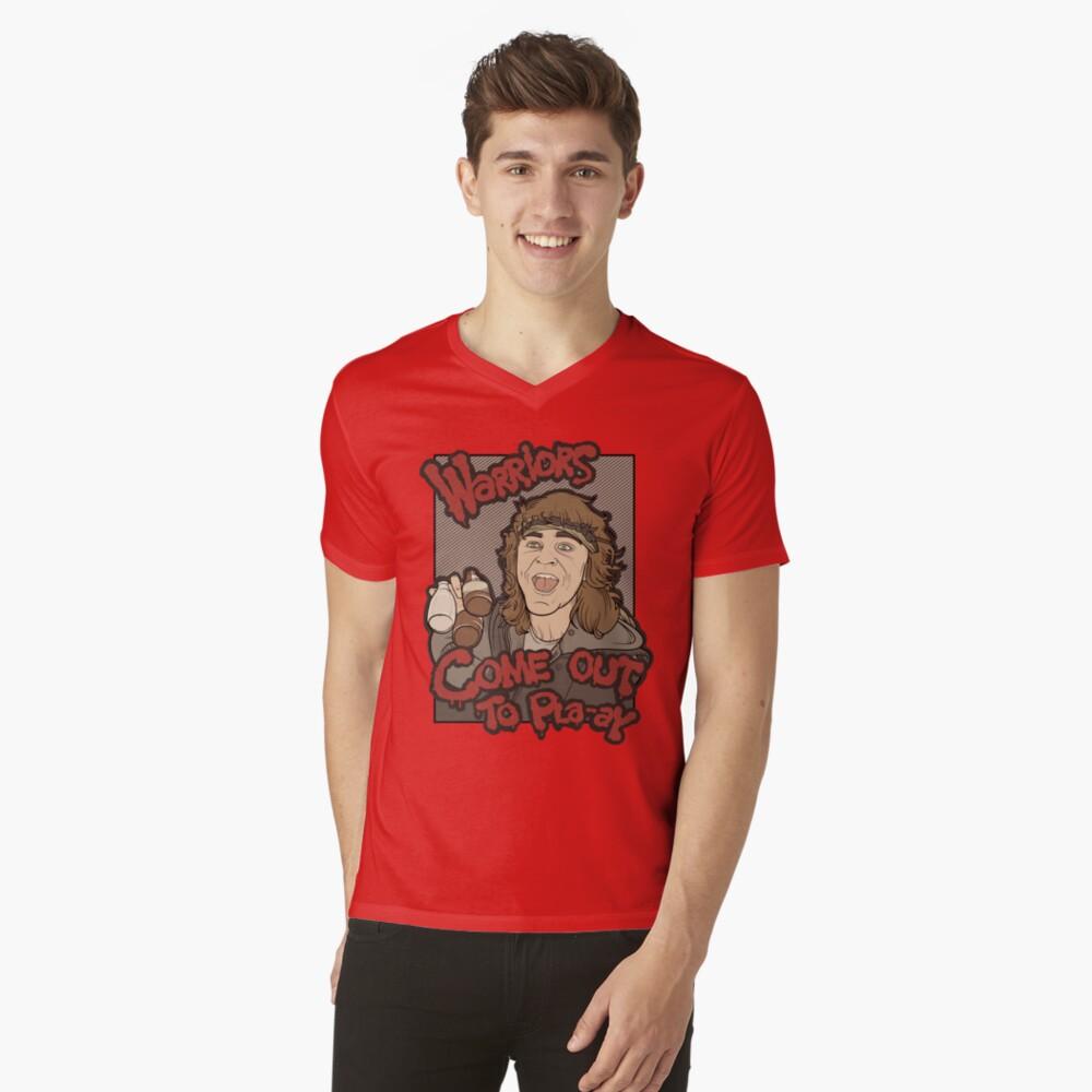 Guerreros ... Salid a Pla-ay ... Camiseta de cuello en V
