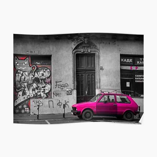 Yugo Car - Belgrade, Serbia Poster