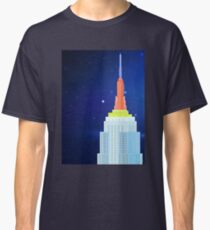 Empire State Building New York Illustration Classic T-Shirt