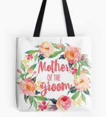 Floral Watercolor Wreath Mother Of The Groom Tote Bag