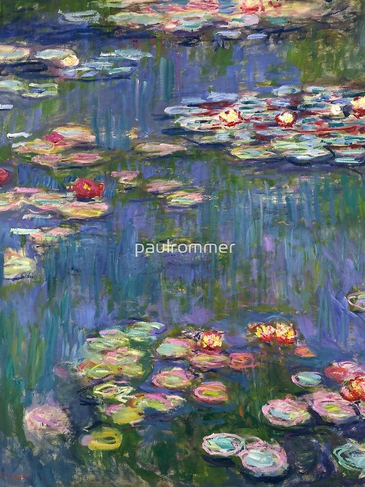 1916-Claude Monet-Waterlilies-200 x 200 by paulrommer