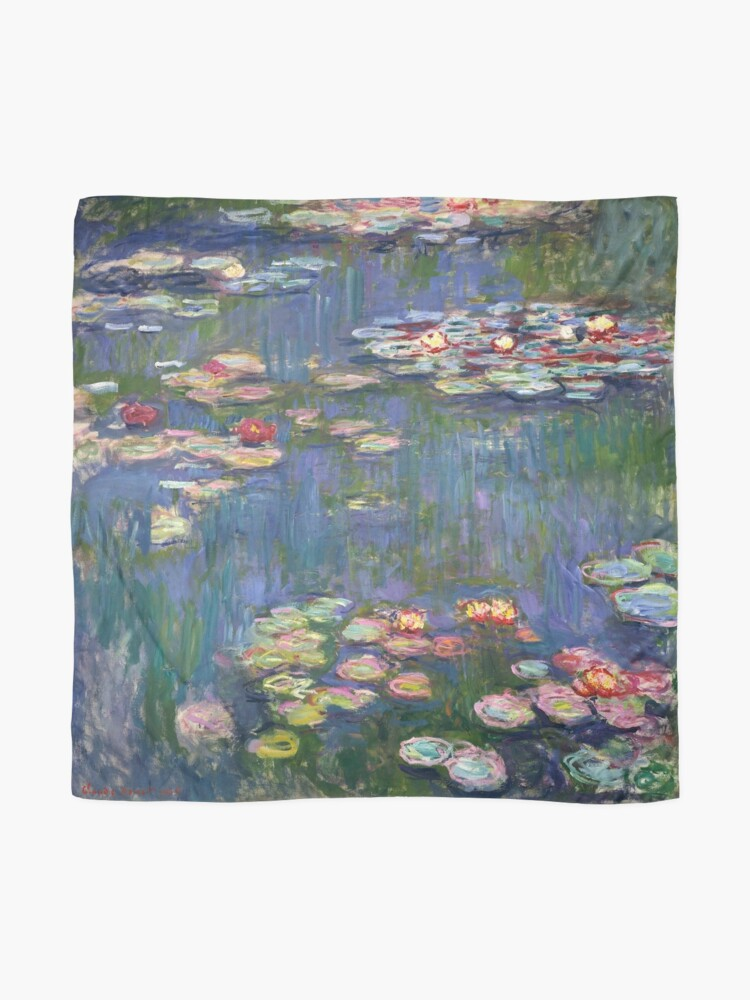 Alternate view of 1916-Claude Monet-Waterlilies-200 x 200 Scarf