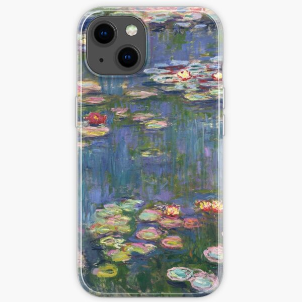 1916-Claude Monet-Waterlilies-200 x 200 iPhone Flexible Hülle