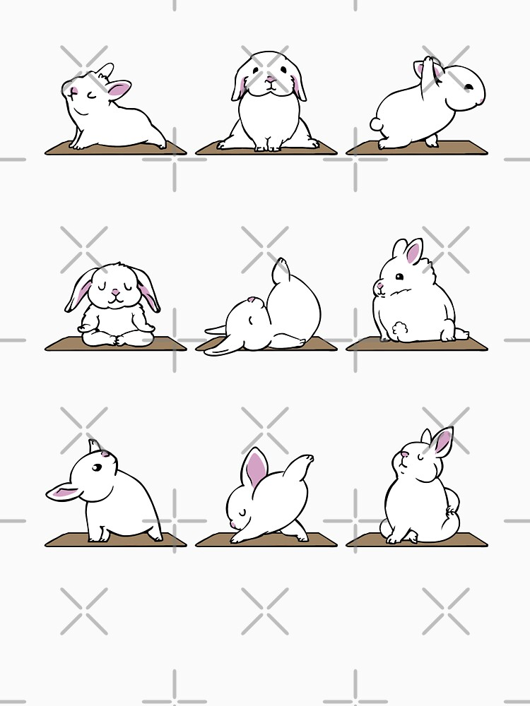 Bunnies Yoga by Huebucket