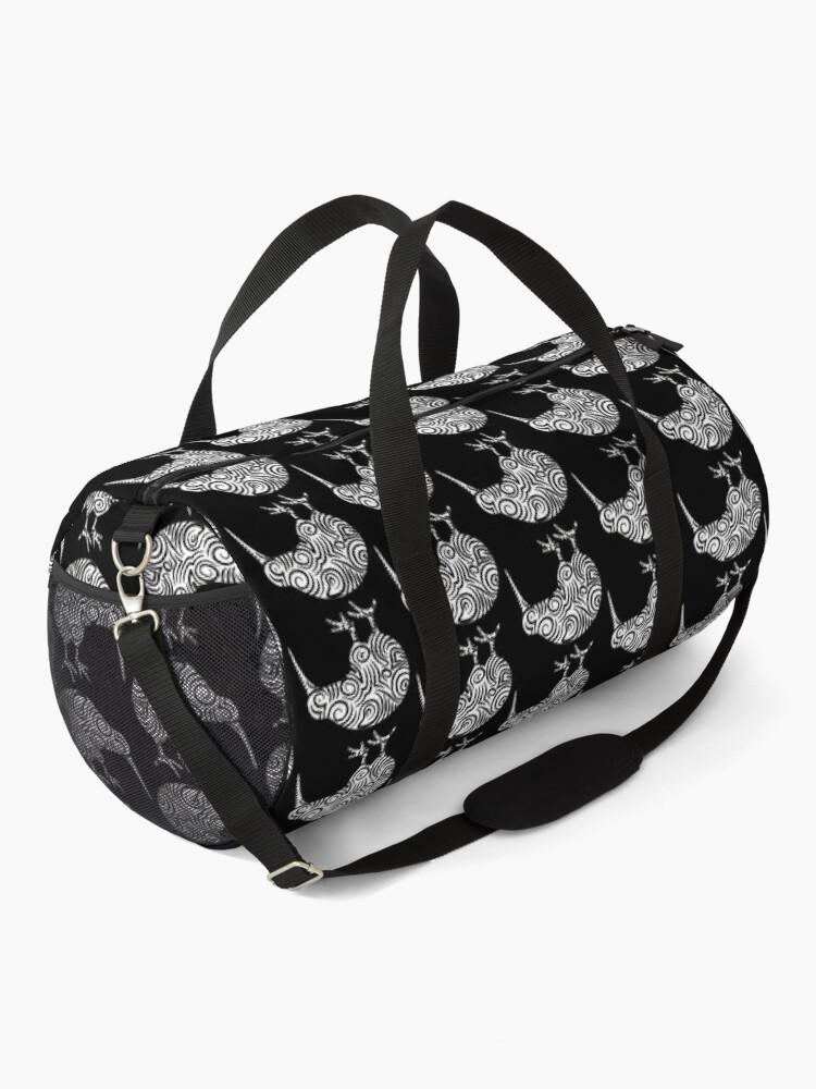 Alternate view of Kiwi Bird Aotearoa New Zealand tribal style Duffle Bag