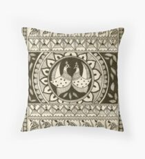 Peacock In Black and White Throw Pillow