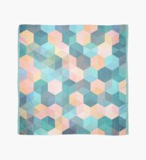 Child's Play 2 - hexagon pattern in soft blue, pink, peach & aqua Scarf