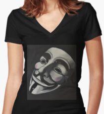 V is for Vendetta Women's Fitted V-Neck T-Shirt