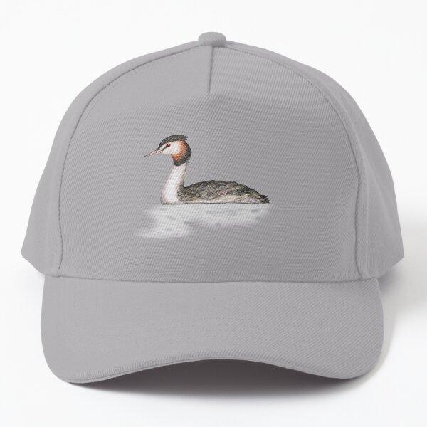 Great crested grebe pencildrawing Baseball Cap