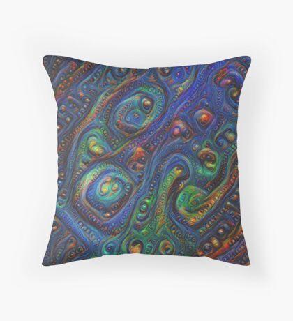 Summer night #DeepDream A Throw Pillow