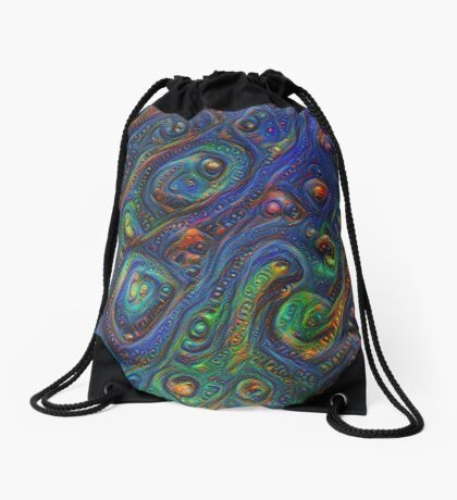 Summer night #DeepDream A Drawstring Bag