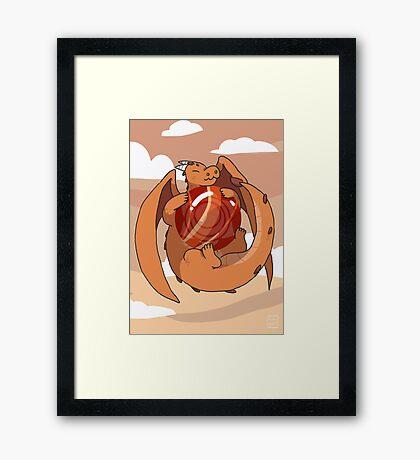 Red Jasper Dragon Framed Print