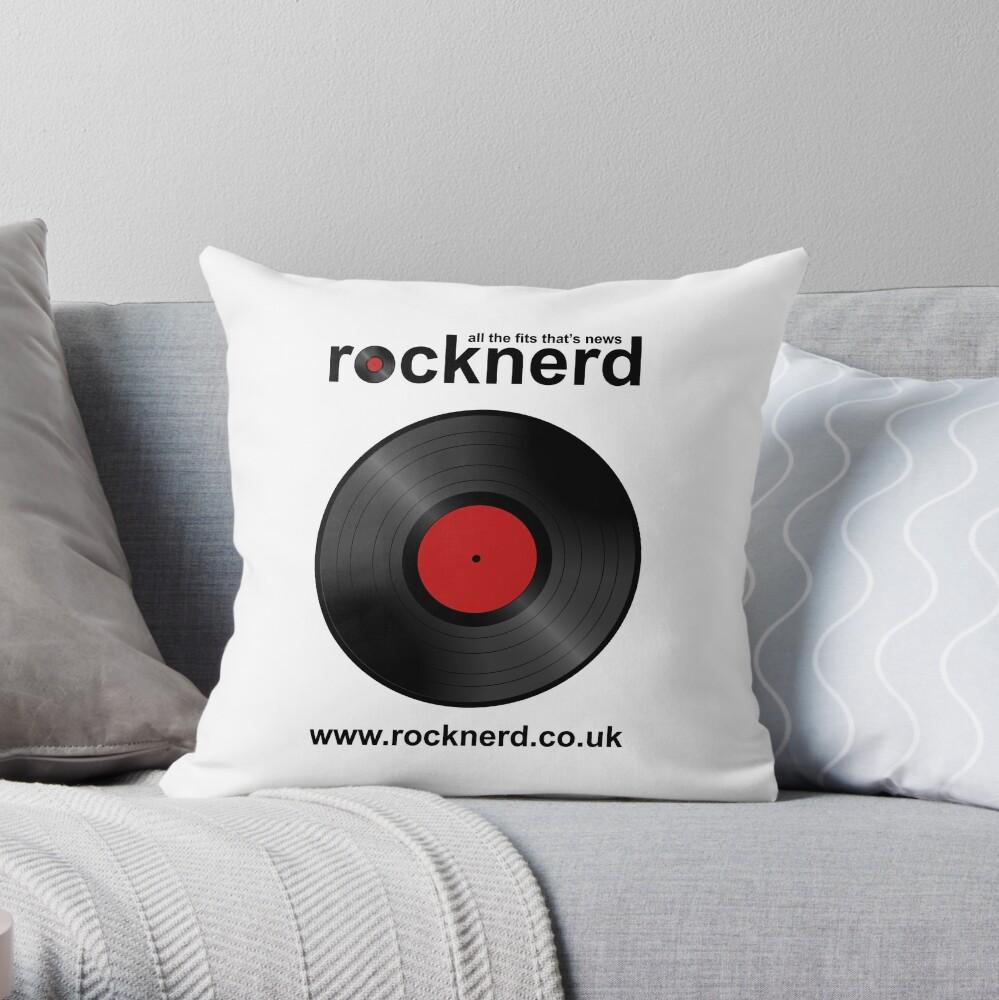 Rocknerd Throw Pillow