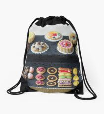 Rainbow Pastry and Cakes Drawstring Bag