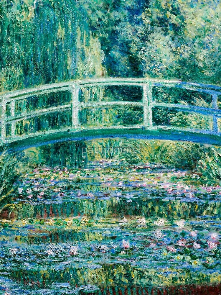 1899-Claude Monet-Water Lilies and Japanese Bridge by paulrommer