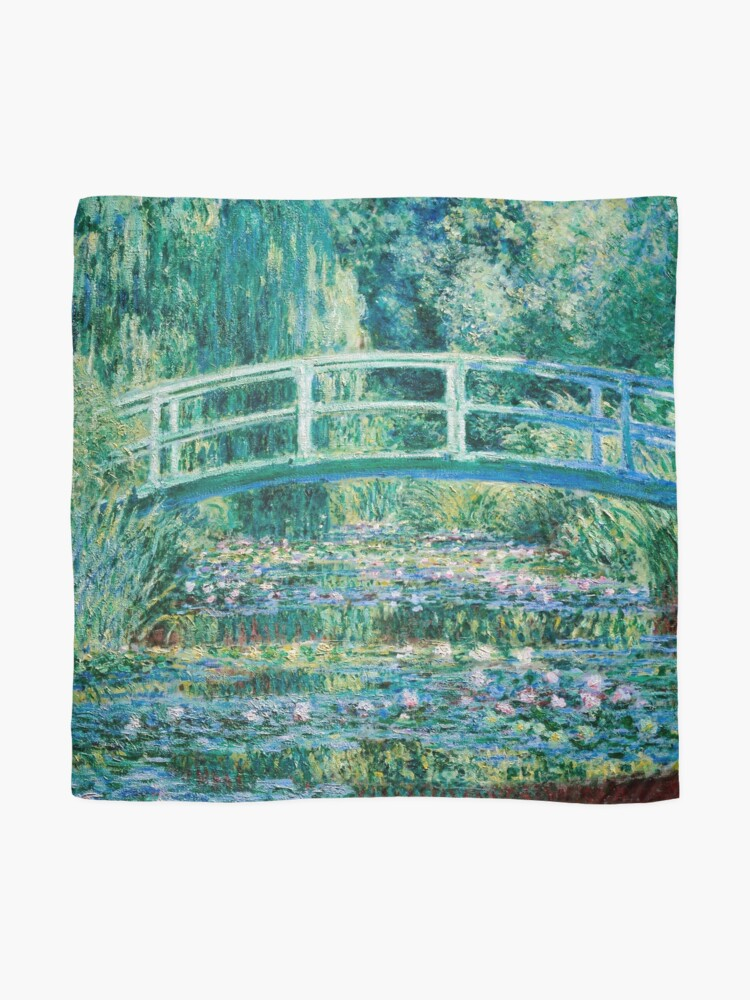 Alternate view of 1899-Claude Monet-Water Lilies and Japanese Bridge Scarf