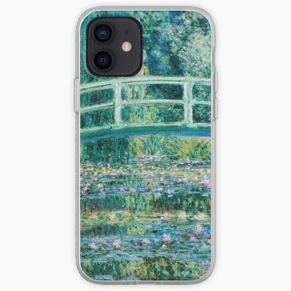 1899-Claude Monet-Water Lilies and Japanese Bridge iPhone Soft Case