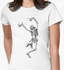 Dance your bones off Women's Fitted T-Shirt
