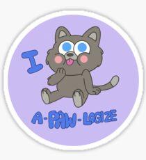 A Furry Forgiveness Sticker