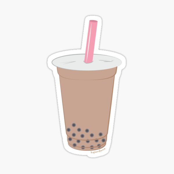 Chai Milk Bubble Tea Sticker