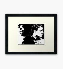 Sherlock and John, Dark and Light Framed Print