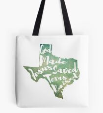 God Jesus Texas Tote Bag