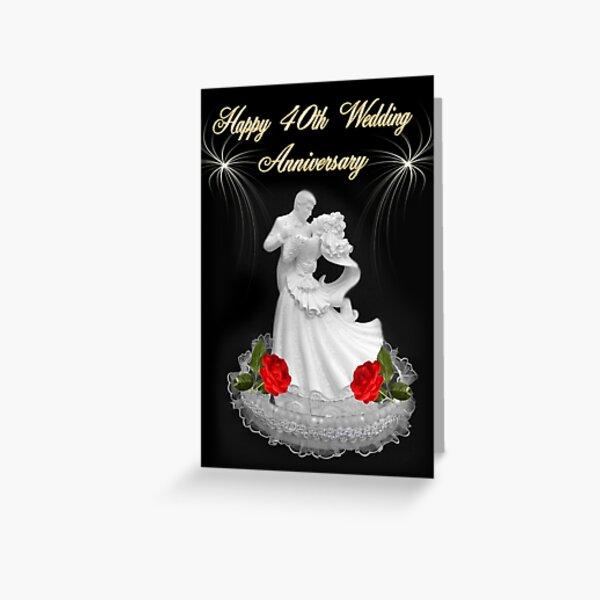 (Dedicación) ~ Feliz 40 aniversario de bodas ~ Jean y Bob ~ Abrazos y bendiciones ~ Tarjetas de felicitación