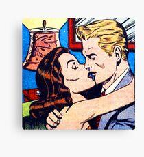 The Kiss Pop art Canvas Print