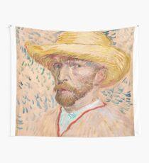 1887-Vincent van Gogh-Self-portrait-32,9x40,8 Wall Tapestry